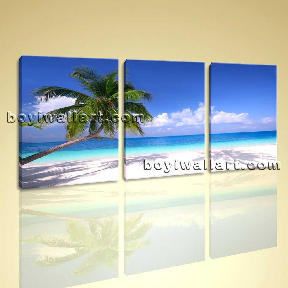 Wall Arts ~ Beach Scene Wall Art Canvas Beach Themed Canvas Prints Throughout Most Current Canvas Wall Art Beach Scenes (View 12 of 15)