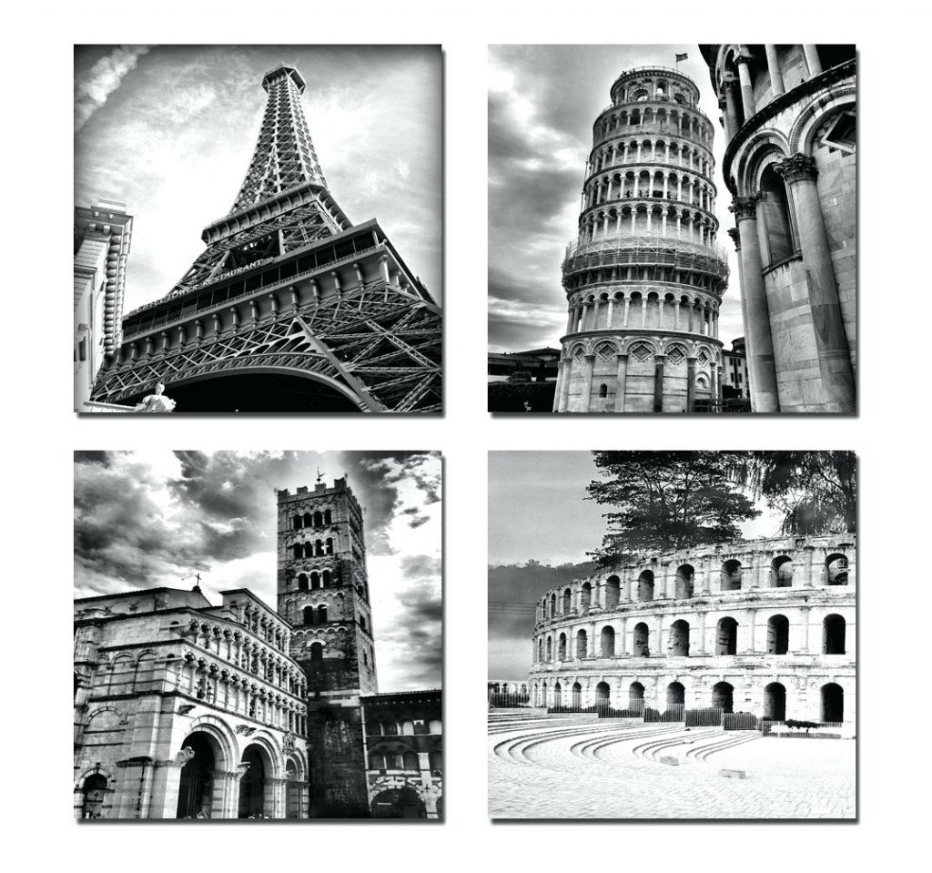 Wall Arts ~ Black And White Canvas Wall Art Black And White Canvas Intended For Best And Newest Canvas Wall Art Of Italy (View 13 of 15)