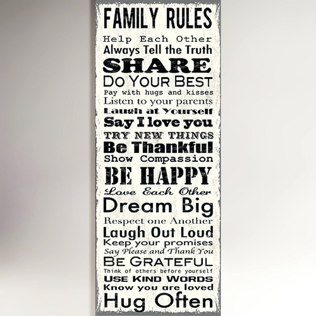 Wall Arts ~ Canvas Wall Art Christian Canvas Wall Art Christian Pertaining To Most Recent Canvas Wall Art Family Rules (View 14 of 15)