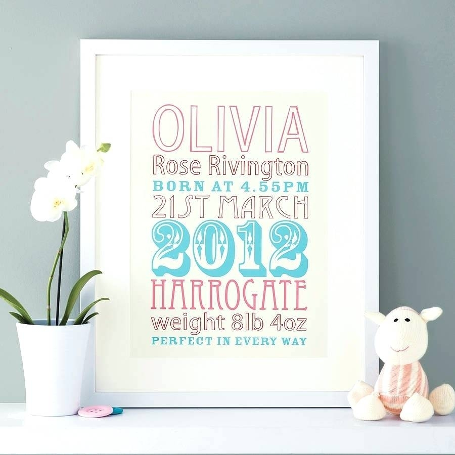 Wall Arts ~ Childrens Canvas Wall Art Personalized Nursery Canvas With Newest Personalized Nursery Canvas Wall Art (View 6 of 15)