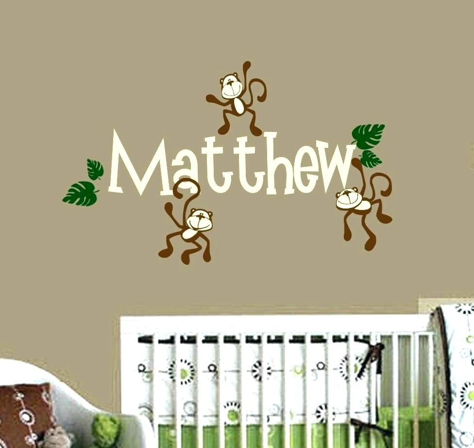 Wall Arts ~ Custom Nursery Wall Decals Wall Ideas Personalized Intended For Latest Custom Nursery Canvas Wall Art (View 14 of 15)