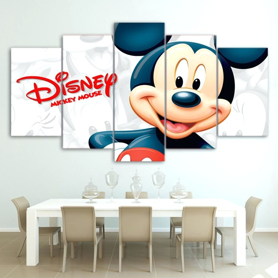 Wall Arts ~ Disney Mickey Mouse 4 Pack Canvas Wall Art Mickey Pertaining To Most Popular Mickey Mouse Canvas Wall Art (View 13 of 15)