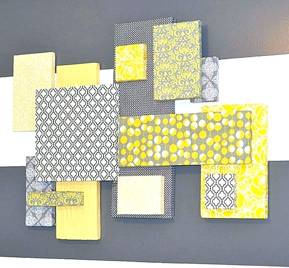 Wall Arts ~ Diy Fabric Covered Wall Art Framed Fabric Wall Art Diy Throughout Latest Fabric Covered Squares Wall Art (View 2 of 15)