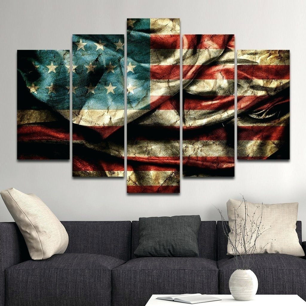 Wall Arts ~ Fabric Panel Wall Art Ideas Stunning Fabric Panel Wall With Most Up To Date American Flag Fabric Wall Art (View 14 of 15)