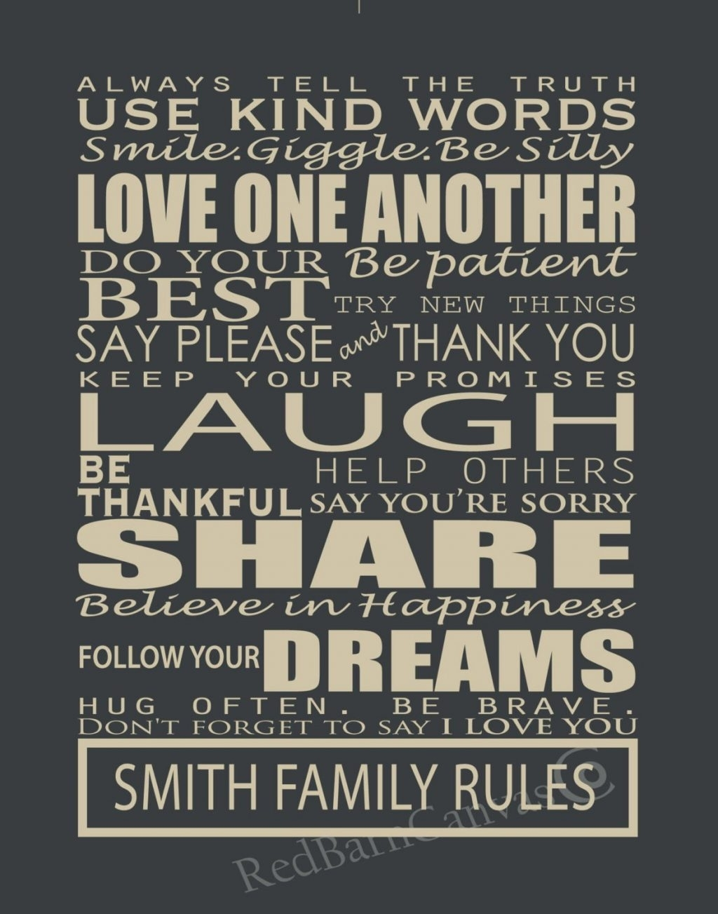 Wall Arts ~ Fancy Family Rules Canvas Wall Art 77 For Asian Metal Regarding Most Up To Date Canvas Wall Art Family Rules (View 15 of 15)