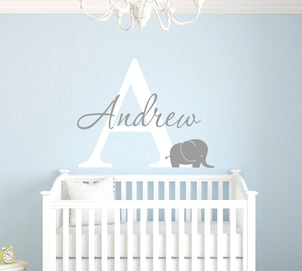 Wall Arts ~ Gallery Of Perfect Baby Name Wall Art Ideas 83 In 3D Throughout Most Up To Date Fabric Name Wall Art (View 13 of 15)