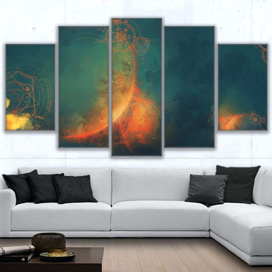 Wall Arts ~ Home Decor 5 Piece Wall Art Forest Group Canvas Black For Most Popular Ireland Canvas Wall Art (View 13 of 15)