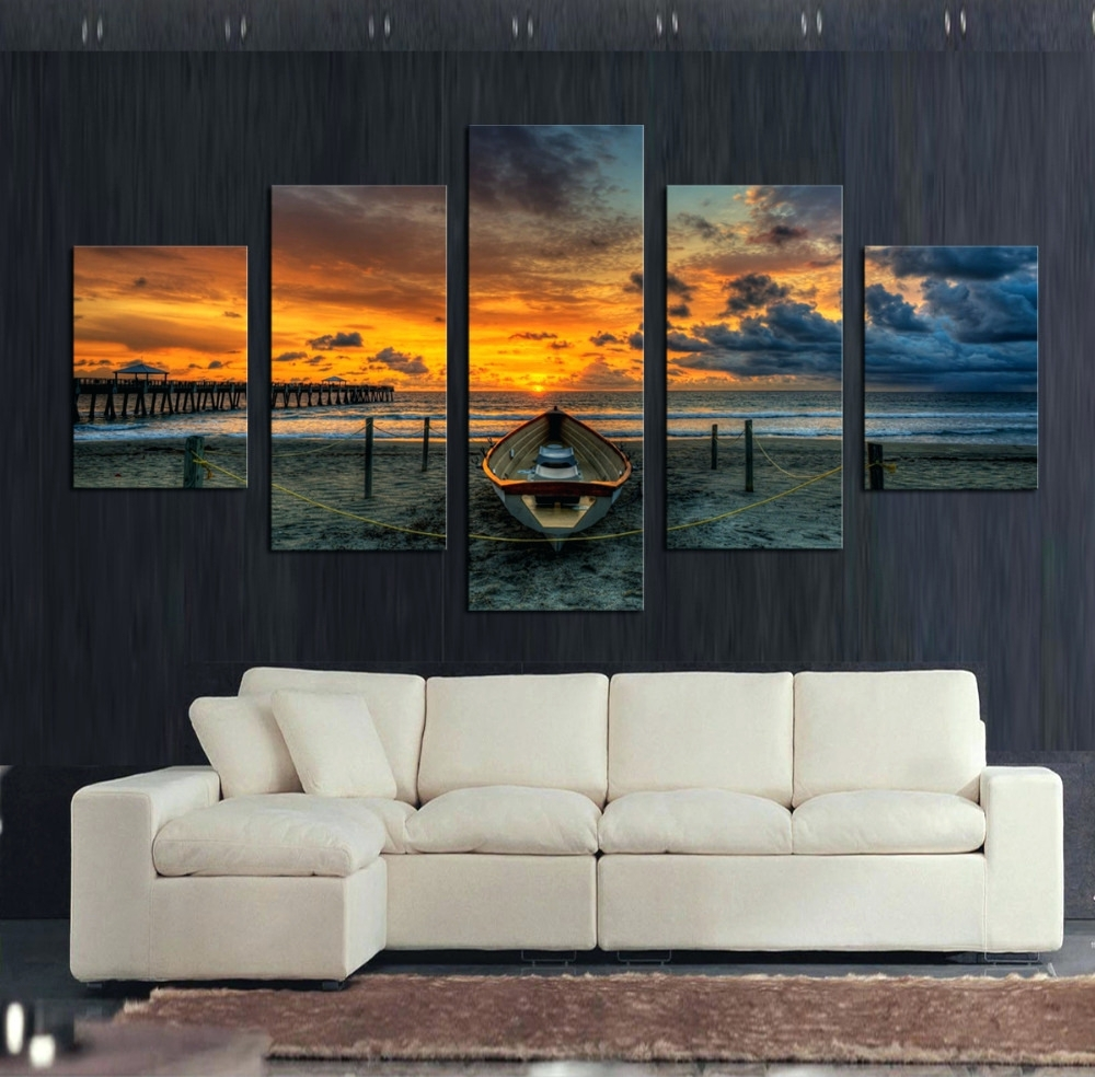 Wall Arts ~ Home Decor 5 Piece Wall Art Forest Group Canvas Black With Most Up To Date Ireland Canvas Wall Art (View 2 of 15)