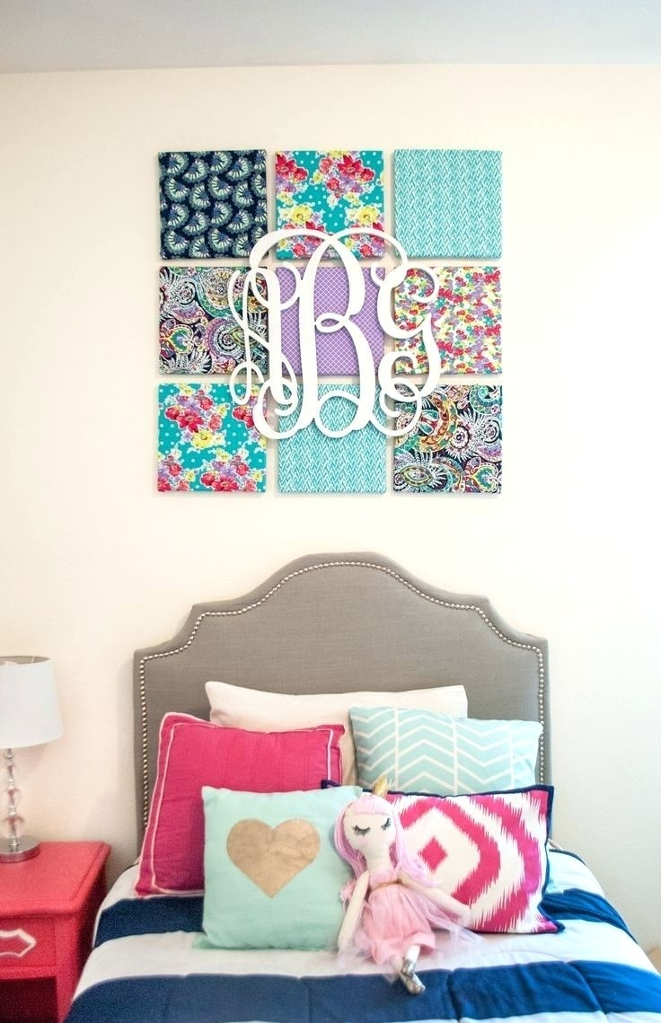 Wall Arts ~ How To Make Large Fabric Panel Wall Art Fabric Panel Throughout Current Styrofoam Fabric Wall Art (View 3 of 15)