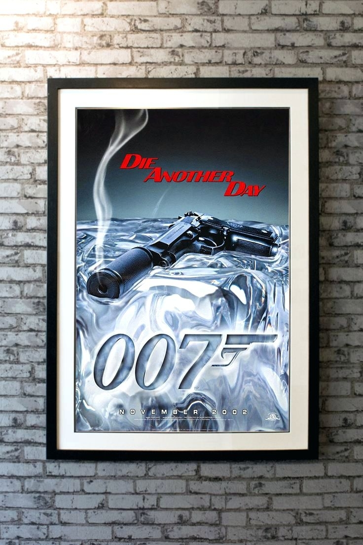 Wall Arts ~ James Bond Wall Art Stickers James Bond Gun Barrel Intended For Latest James Bond Canvas Wall Art (View 5 of 15)