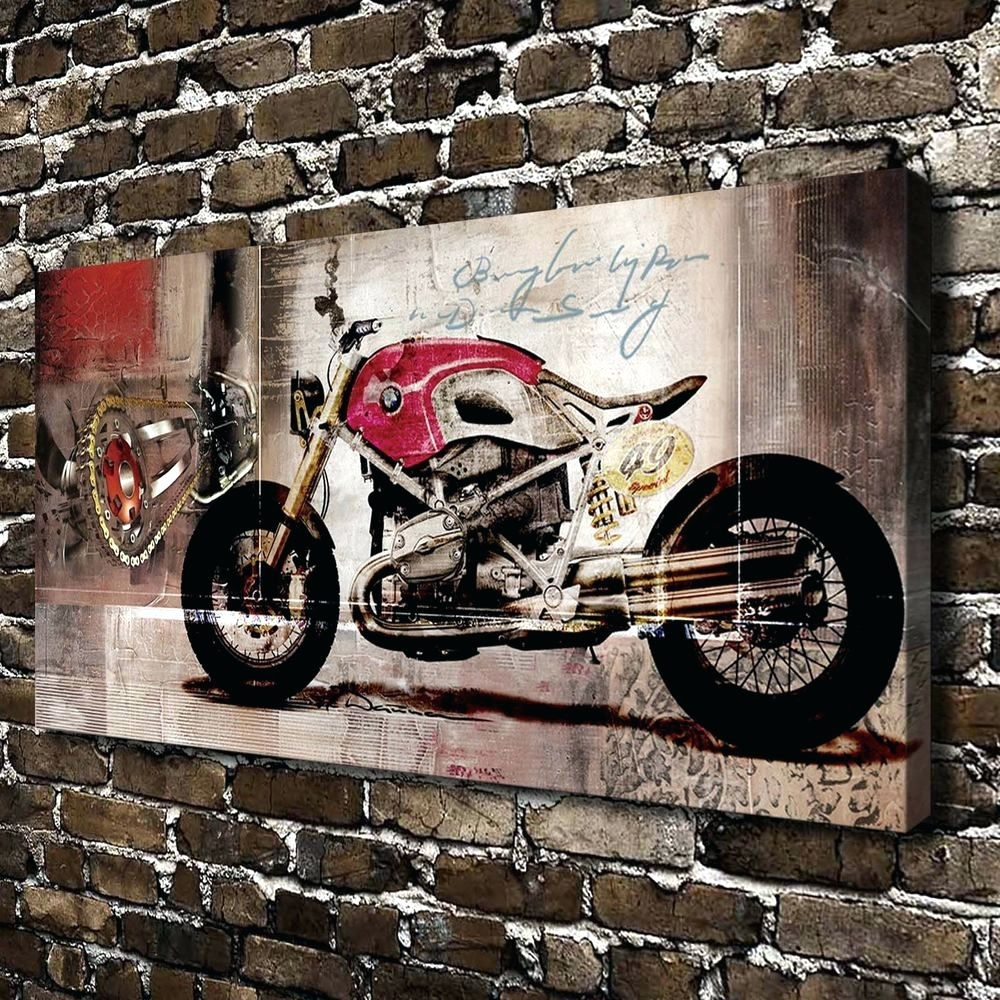 Wall Arts ~ Large Motorcycle Wall Art Bmw Harley Motorcycle Hd With Regard To Current Bmw Canvas Wall Art (View 13 of 15)