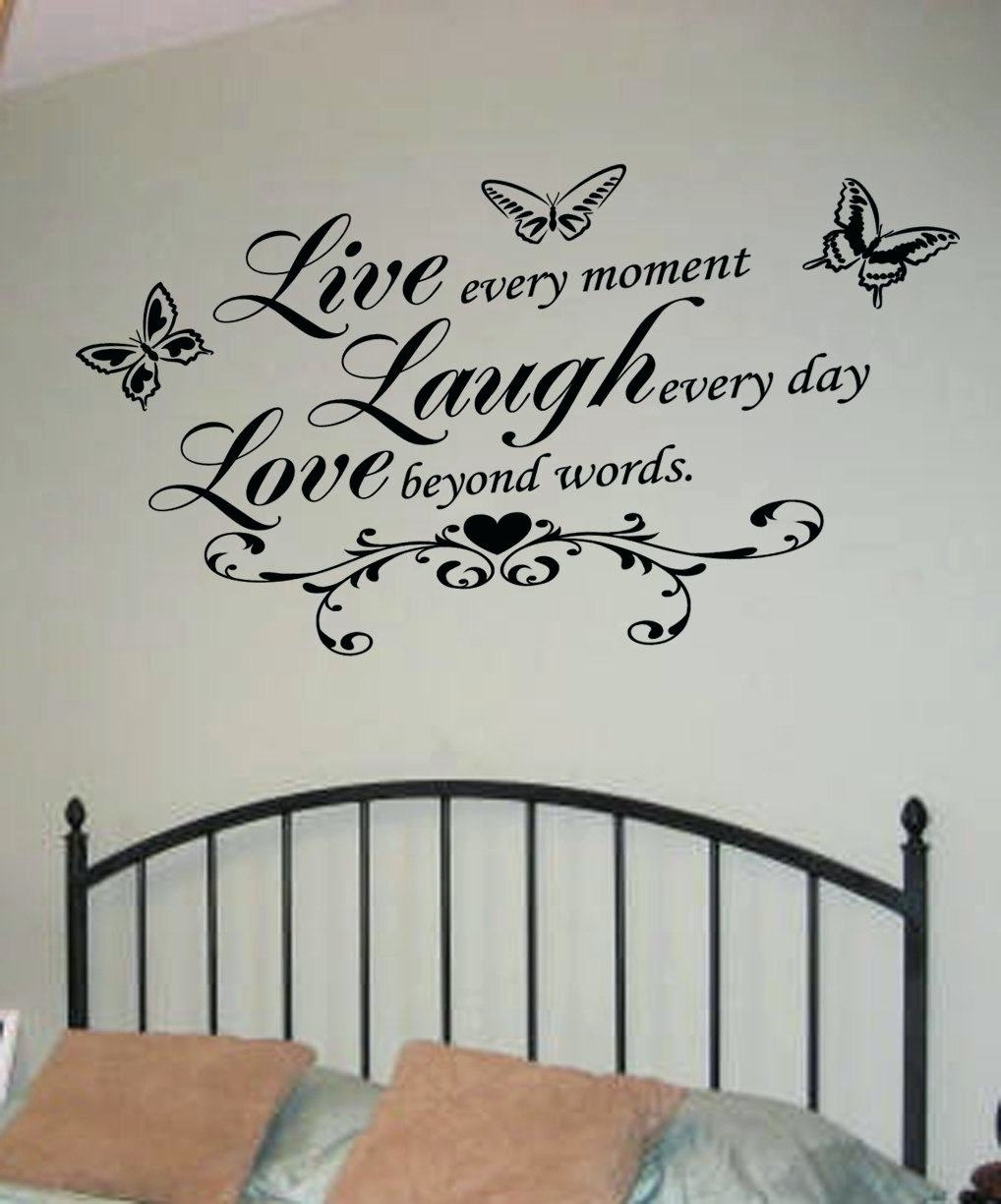 Wall Arts ~ Live Laugh Love Wall Art Decal Love Bedroom Wall Intended For Most Up To Date Live Laugh Love Canvas Wall Art (View 13 of 15)