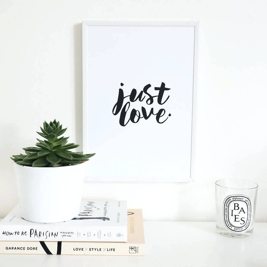 Wall Arts ~ Love Quote Canvas Wall Art Love Wall Art Quotes Just Inside Newest Love Canvas Wall Art (View 14 of 15)