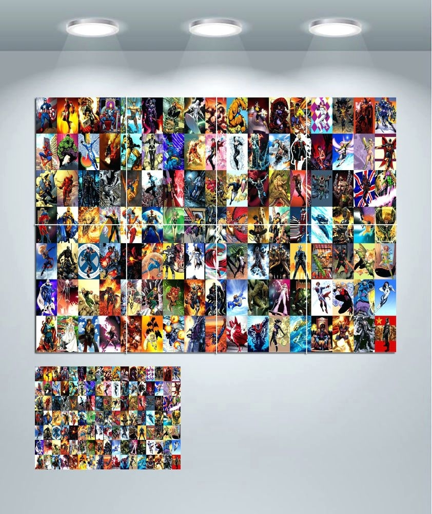 Wall Arts ~ Marvel Comics Wall Mural Marvel Comics Framed Art Regarding 2018 Marvel Canvas Wall Art (View 12 of 15)