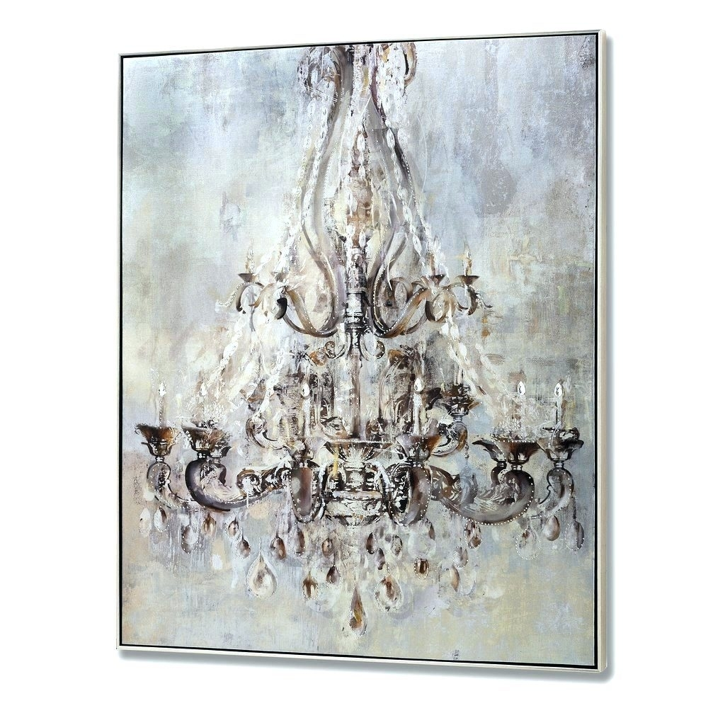 Wall arts monsoon floral metallic wall art canvas metallic intended for 2017 chandelier canvas wall