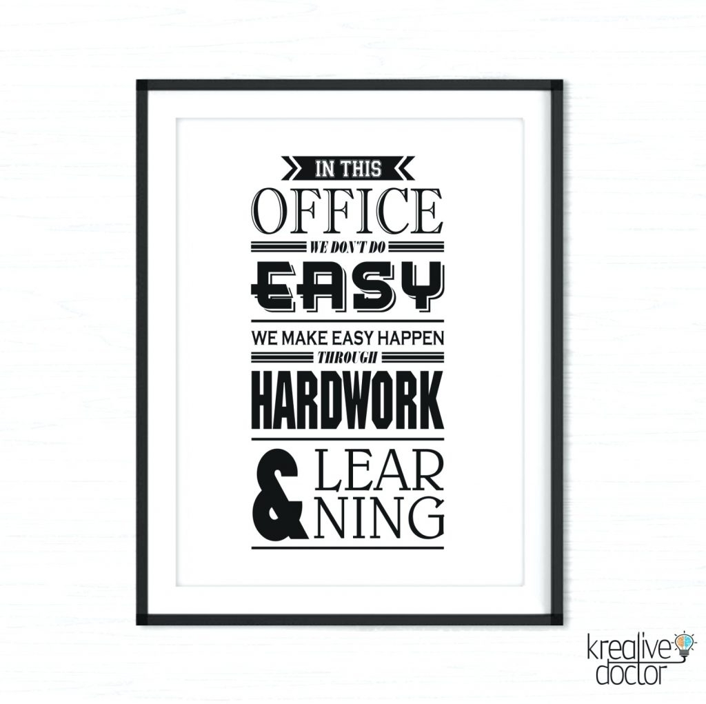 Wall Arts ~ Office Wall Art Motivational Poster Inspirational With Regard To Most Recently Released Canvas Wall Art Funny Quotes (View 7 of 15)