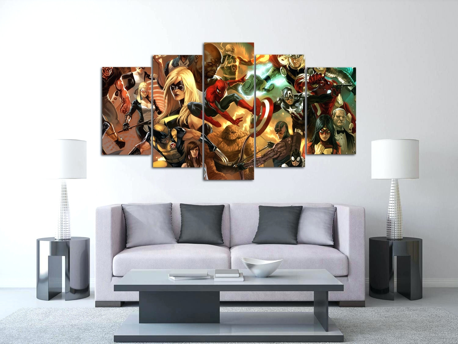 Wall Arts ~ Panel Wall Art Canvas Zoom 9 Panel Metal Wall Art With Most Current Canvas Wall Art In Canada (View 14 of 15)