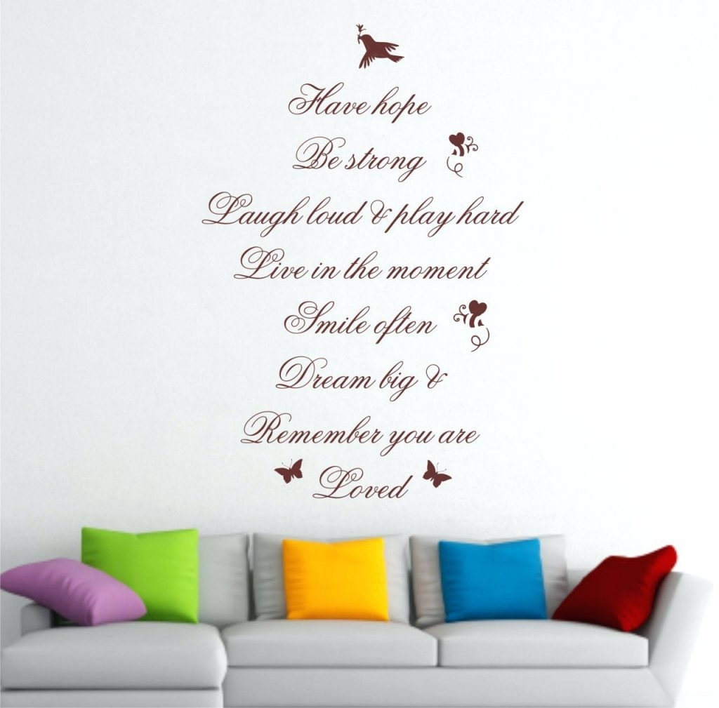 Wall Arts ~ Quote Wall Art Wall Art Quotes Vinyl Wall Art With Regard To 2017 Dreamcatcher Fabric Wall Art (View 15 of 15)
