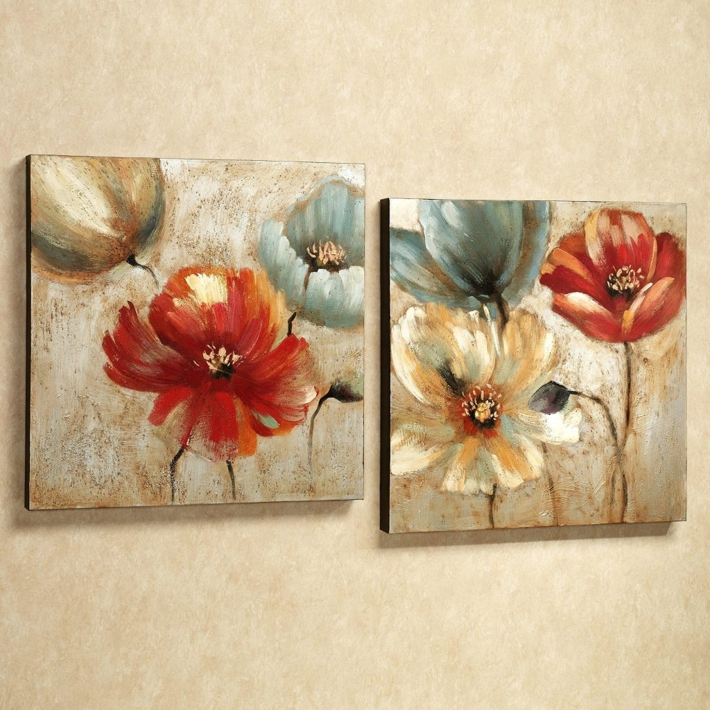 Wall Arts ~ Red Flower Canvas Wall Art Red Canvas Floral Wall Art Within Most Recently Released Red Flowers Canvas Wall Art (View 14 of 15)