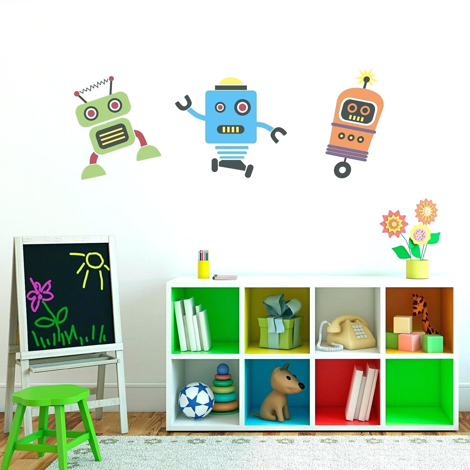 Wall Arts ~ Robot Canvas Wall Art Kid Robot Wall Art Retro Robot Throughout Best And Newest Robot Canvas Wall Art (View 11 of 15)