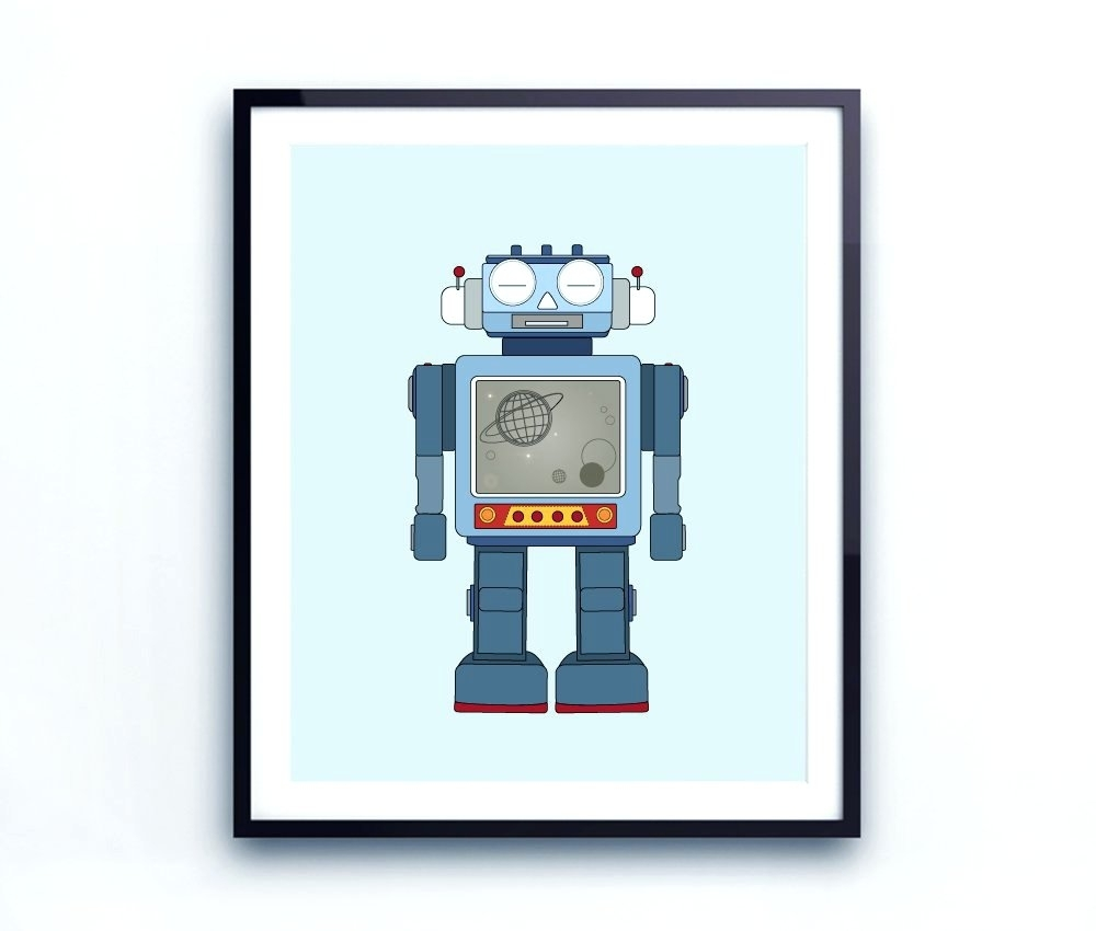 Wall Arts ~ Robot Canvas Wall Art Target Robot Wall Art Robot Wall Within 2017 Robot Canvas Wall Art (View 14 of 15)