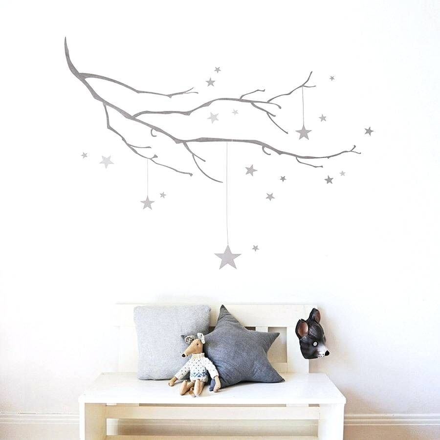 Wall Arts ~ Rustic Metal Star Wall Art Winter Branch With Stars With Regard To Most Recently Released Rustic Fabric Wall Art (View 15 of 15)
