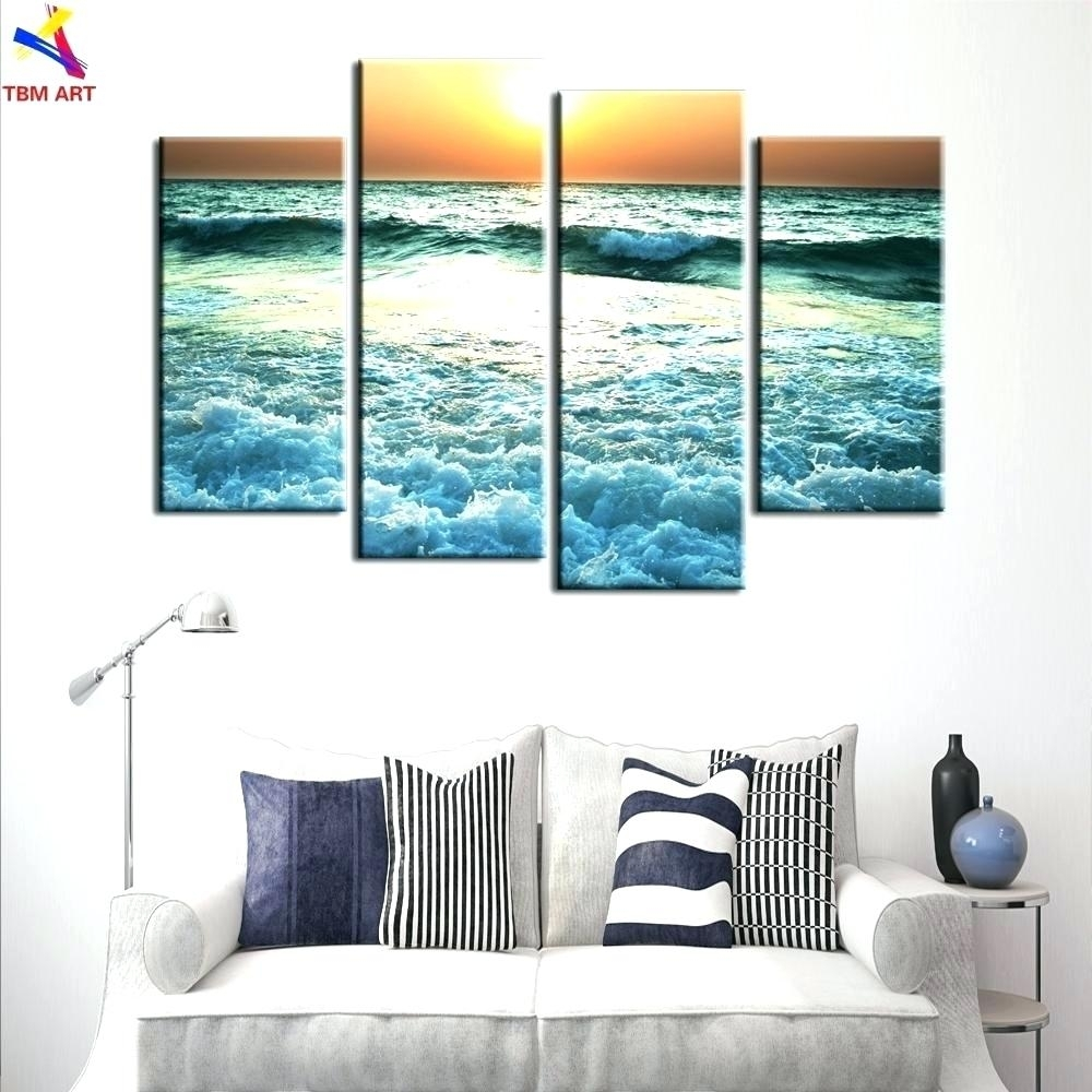 Wall Arts Sea Themed Metal Wall Art Baby Beach Themed Canvas Sea Within 2018 Beach Themed Canvas Wall Art (View 9 of 15)