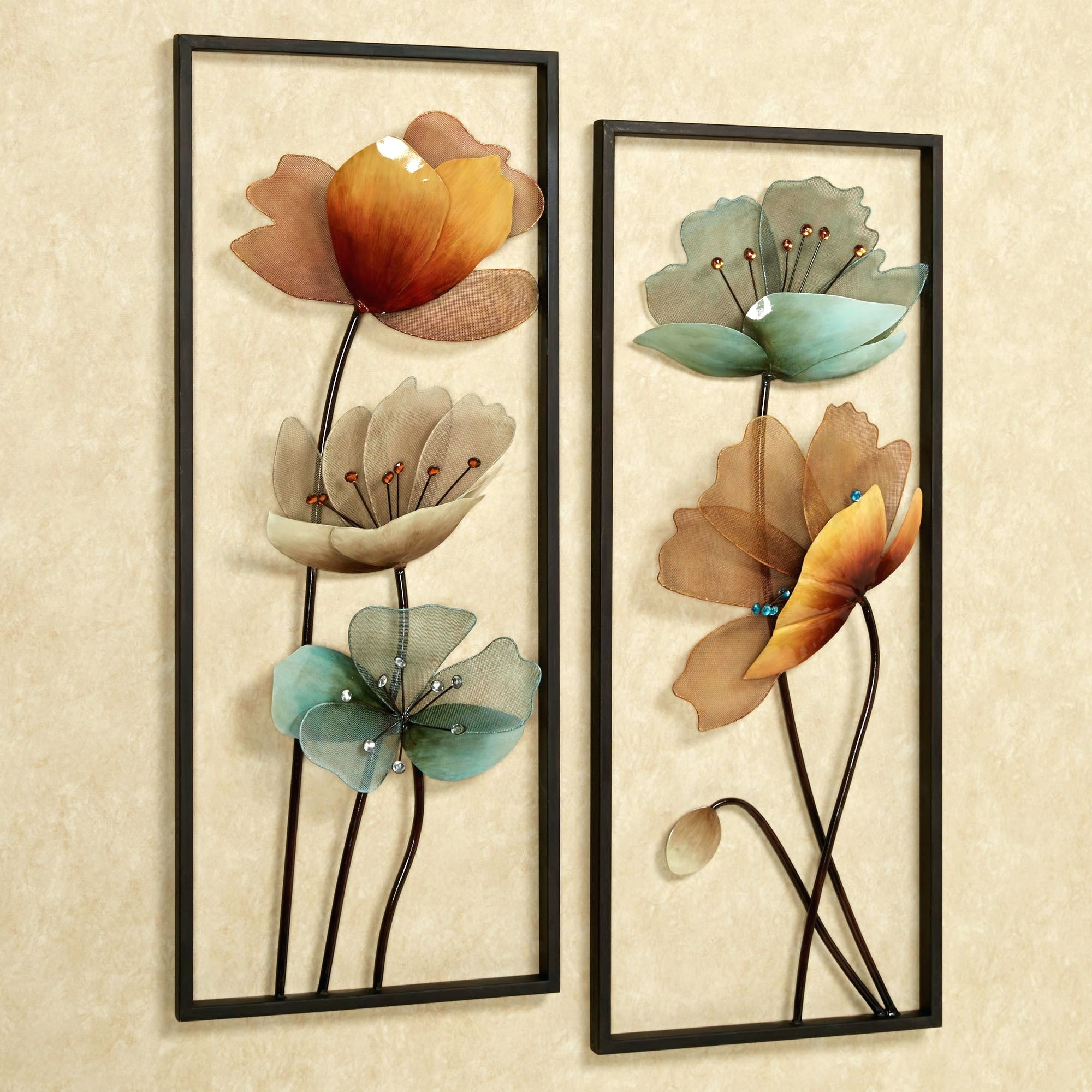Wall Arts ~ Turquoise Flower Ombre Metal Wall Art Turquoise Bloom Throughout 2017 Flowers Wall Accents (View 9 of 15)