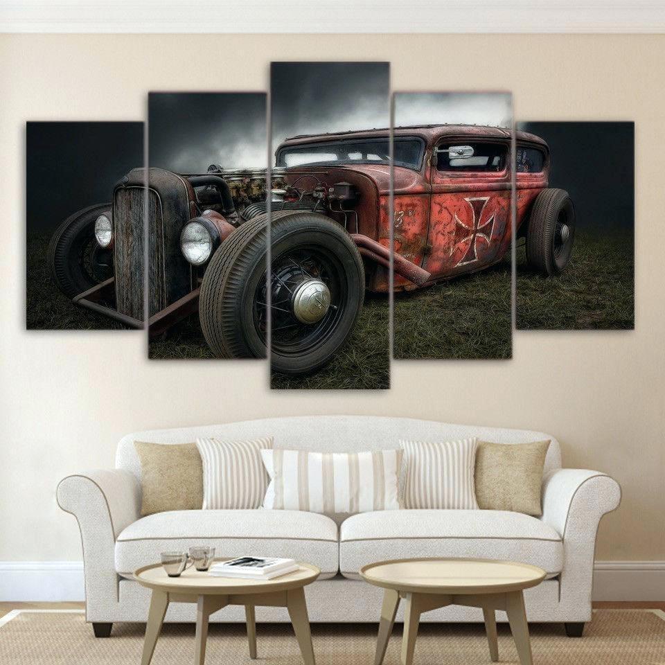 Wall Arts ~ Vintage Canvas Wall Art Australia 5 Pieces Antique Hot Regarding Most Current Retro Canvas Wall Art (View 4 of 15)
