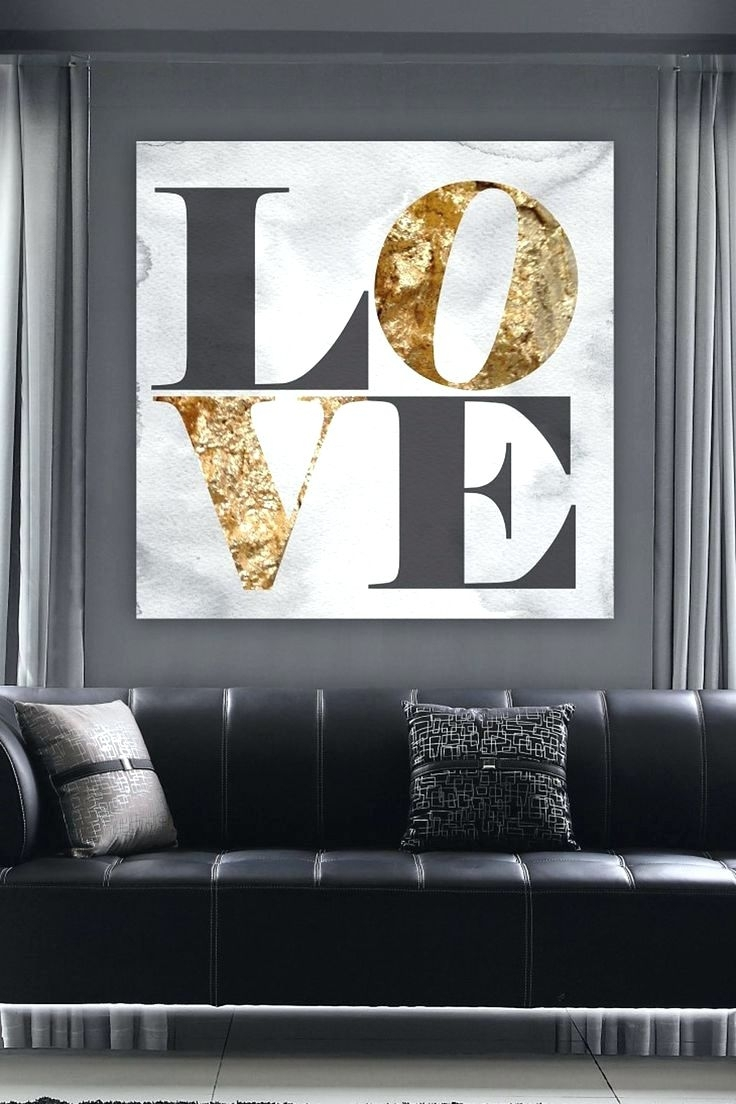 Wall Arts ~ Wall Art And Canvases Cheap Wall Art Canvas Pictures With Most Current Love Canvas Wall Art (View 2 of 15)