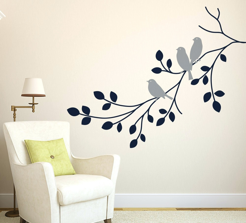 Wall Arts ~ Wall Art And Decor Stickers Flying Pigeon Bird Wall With Newest Fabric Bird Wall Art (View 14 of 15)