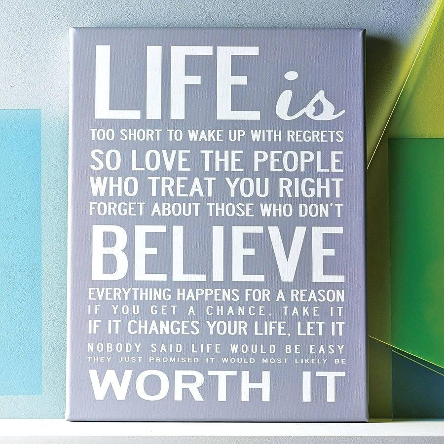 Wall Arts ~ Wall Art Quotes Canvas Uk Canvas Wall Art Quotes Diy With Most Recent Inspirational Quote Canvas Wall Art (Gallery 7 of 15)