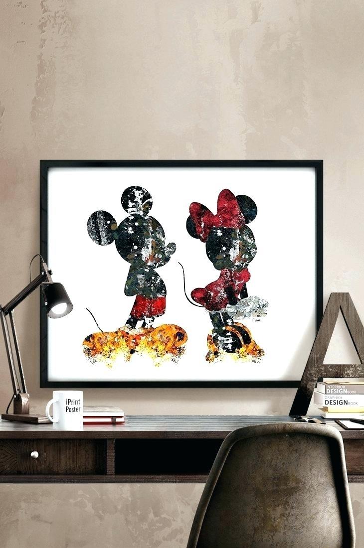 Wall Arts ~ Wall Ideas Mickey Mouse Wall Art Uk Mickey Mouse Wall Intended For 2017 Mickey Mouse Canvas Wall Art (View 14 of 15)