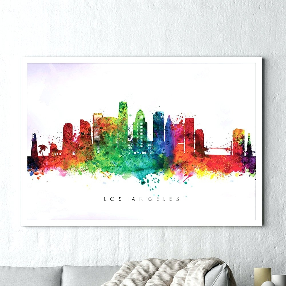 Wall Arts ~ Wondrous Design Decor Los Angeles Skyline Paint Los With Regard To Most Recent Los Angeles Canvas Wall Art (View 5 of 15)