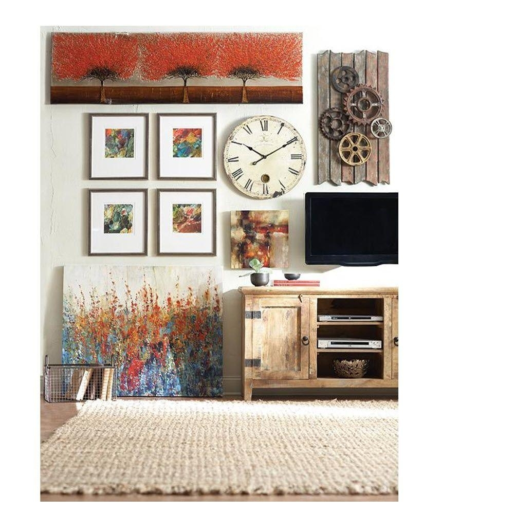 Wall Clocks – Wall Decor – The Home Depot In Best And Newest Clock Wall Accents (View 14 of 15)