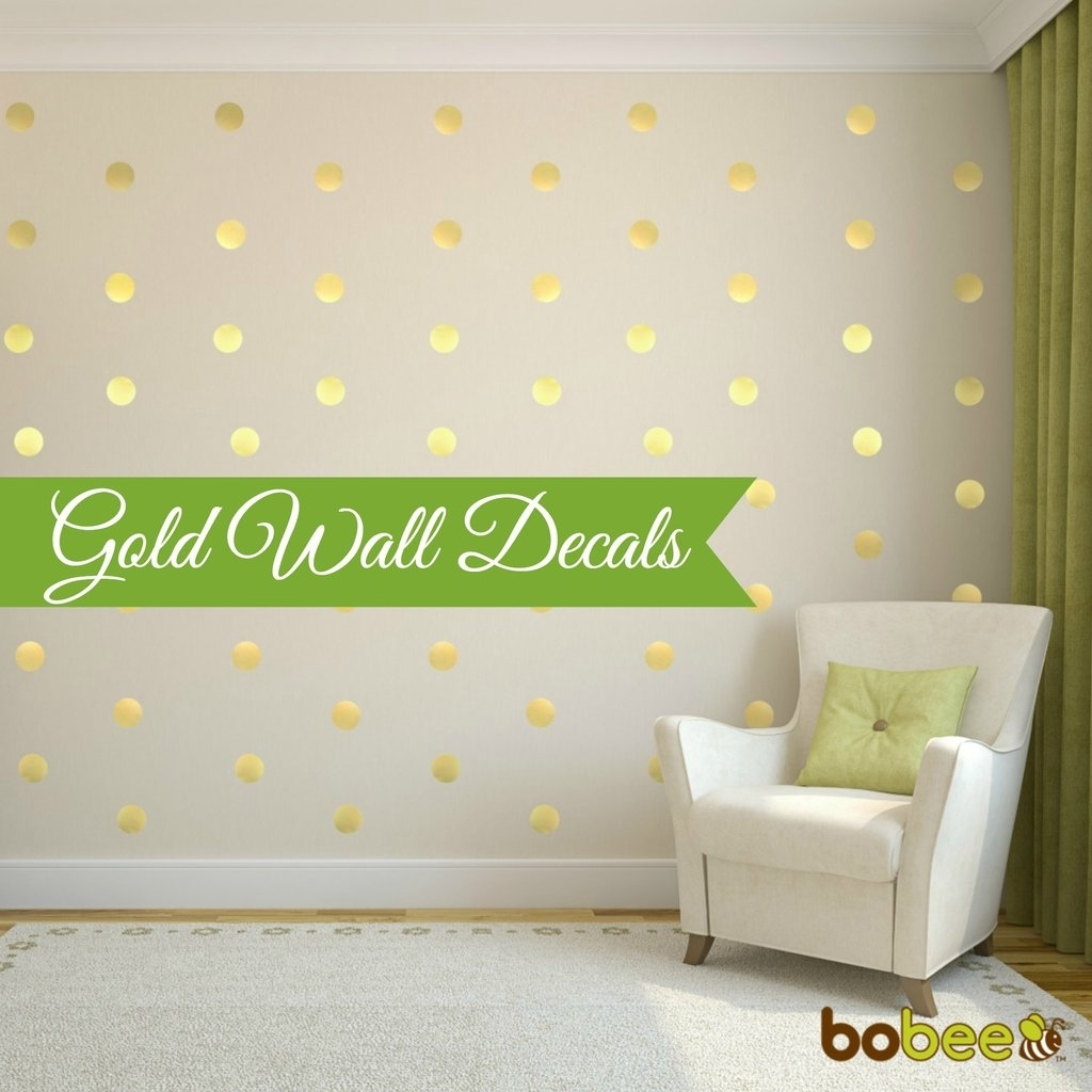 Wall Decal: Vinyl Polka Dot Wall Decals | Polka Dot Wall Decals Inside Most Up To Date Wall Accent Decals (View 14 of 15)