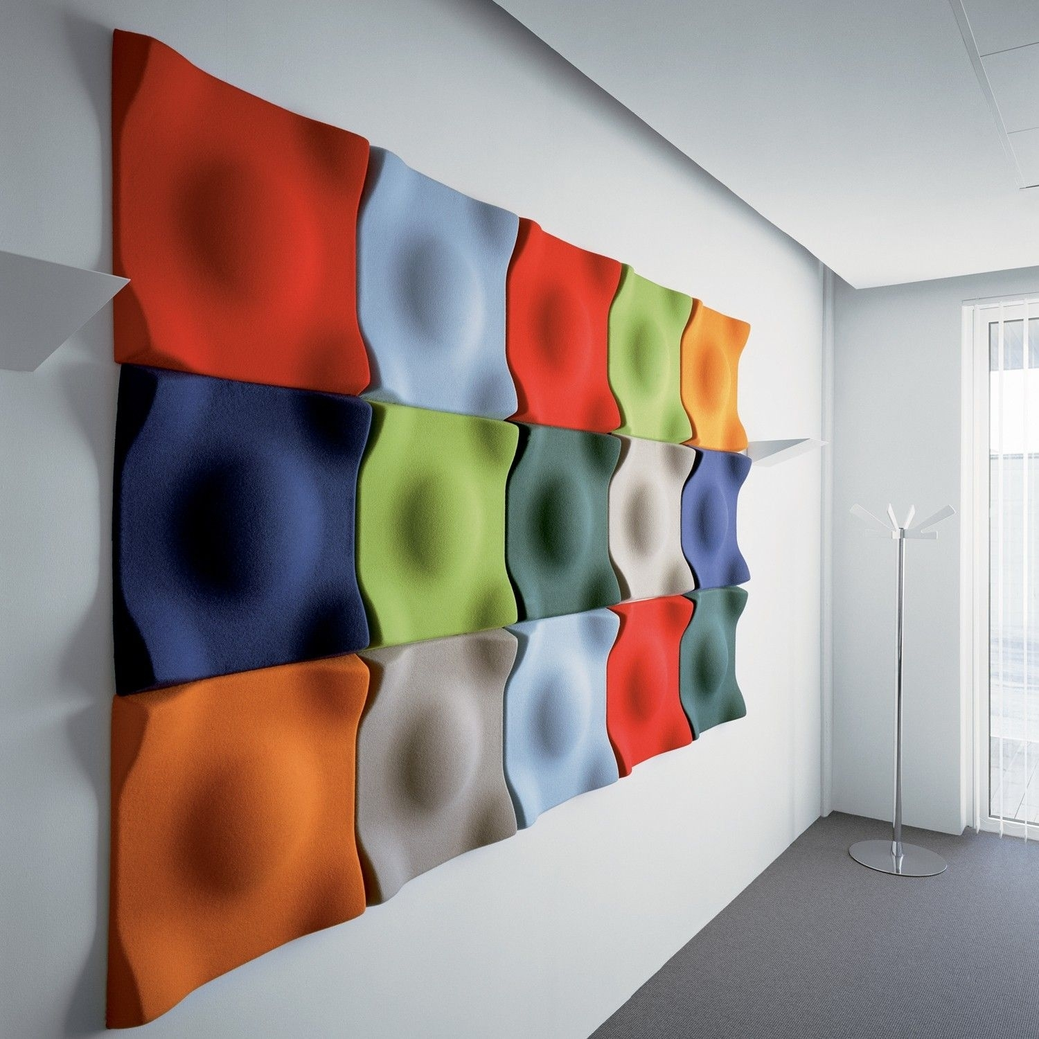 Wall Decor : Acoustic Cladding Panels Melamine Acoustic Foam For Most Up To Date Foam And Fabric Wall Art (View 8 of 15)