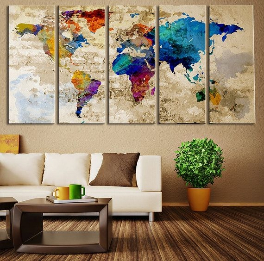 Featured Photo of Large Modern Fabric Wall Art