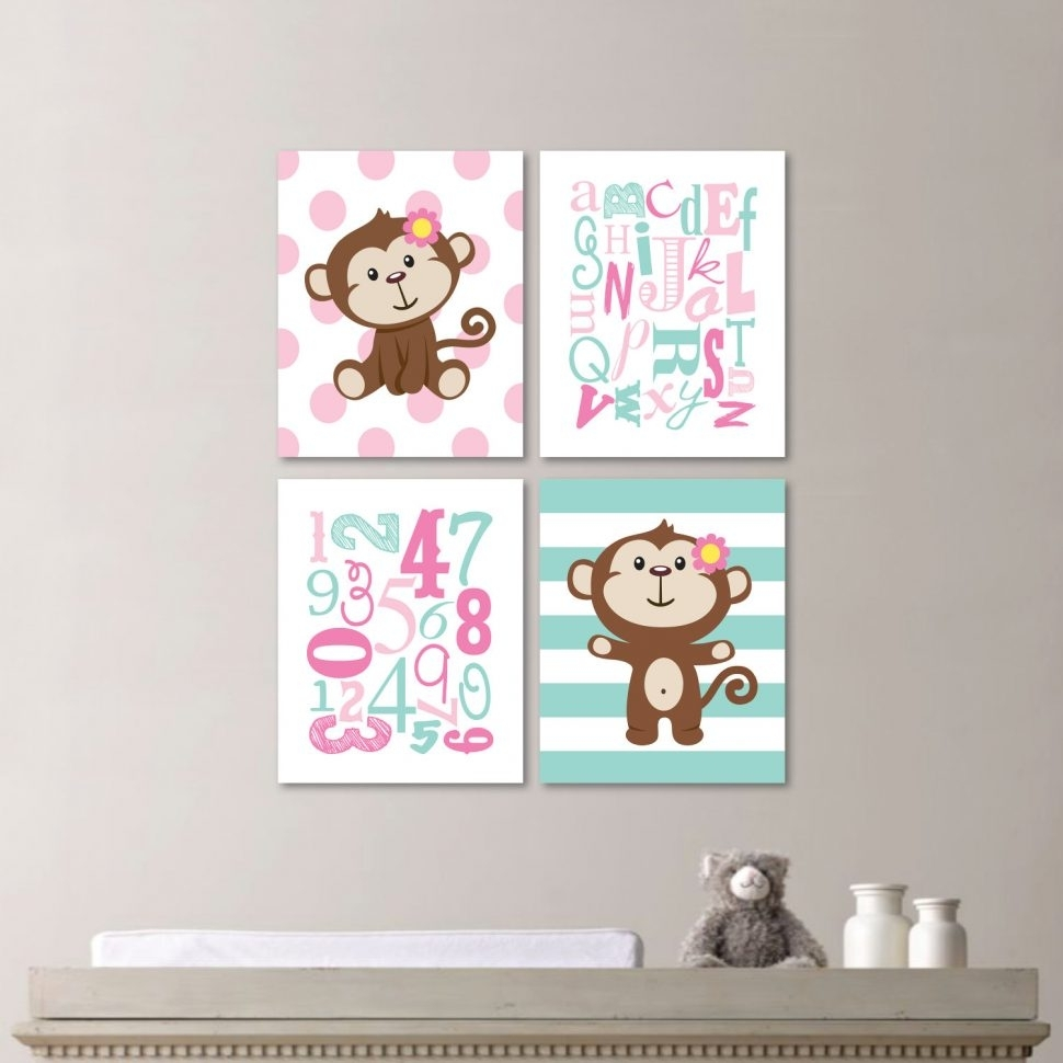 Wall Decor : Baby Boy Nursery Decorating Ideas Nursery Wall Art With Most Recently Released Girl Nursery Wall Accents (View 12 of 15)