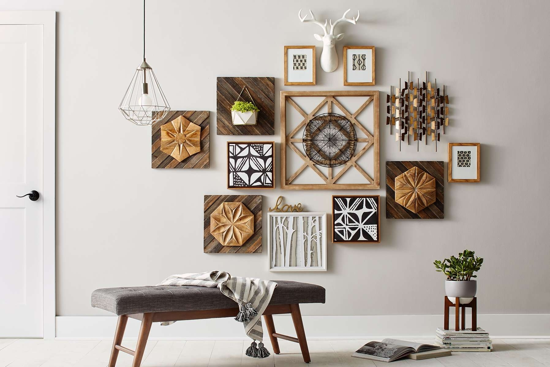 Wall Decor : Big Wall Art White Wall Decor Home Wall Decor Wood Throughout Most Recently Released Modern Wall Accents (View 4 of 15)