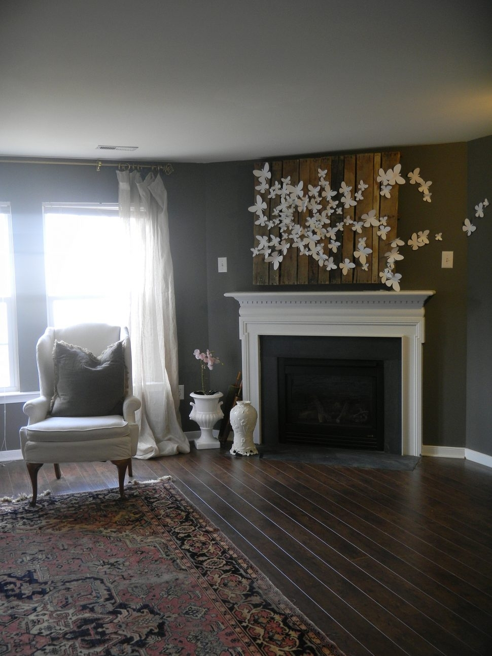 Wall Decor : Cheap Wall Decor Fireplace Mantel Decorating Ideas With Latest Wall Accents Over Fireplace (View 13 of 15)
