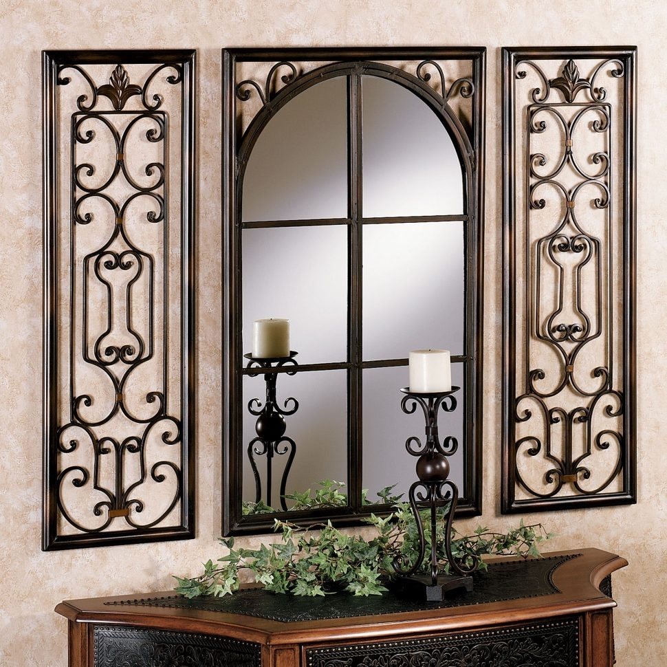 Wall Decor : Framed Bathroom Mirrors Gold Mirror Mirror Wall Art For Recent Mirror Sets Wall Accents (View 11 of 15)