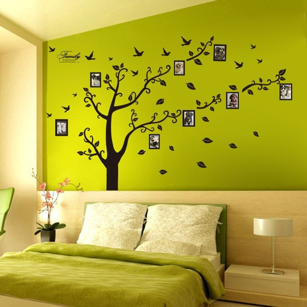 Wall Decor: Girl Black Flowers Butterflies Design Removable Wall Within Latest Removable Wall Accents (View 5 of 15)
