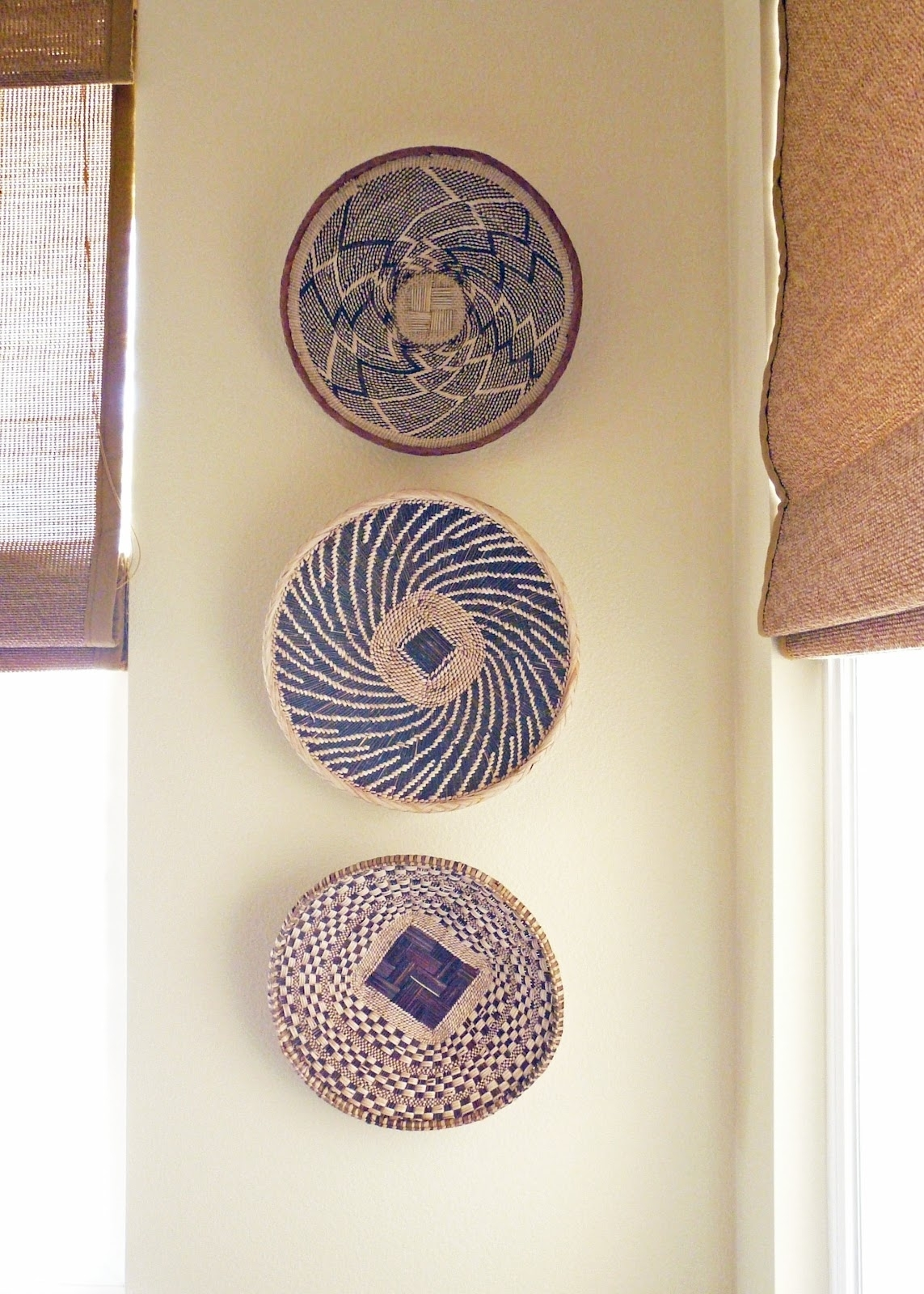 Wall Decor: Good Look Baskets As Wall Decor Woven Wall Baskets In Recent African Wall Accents (View 4 of 15)