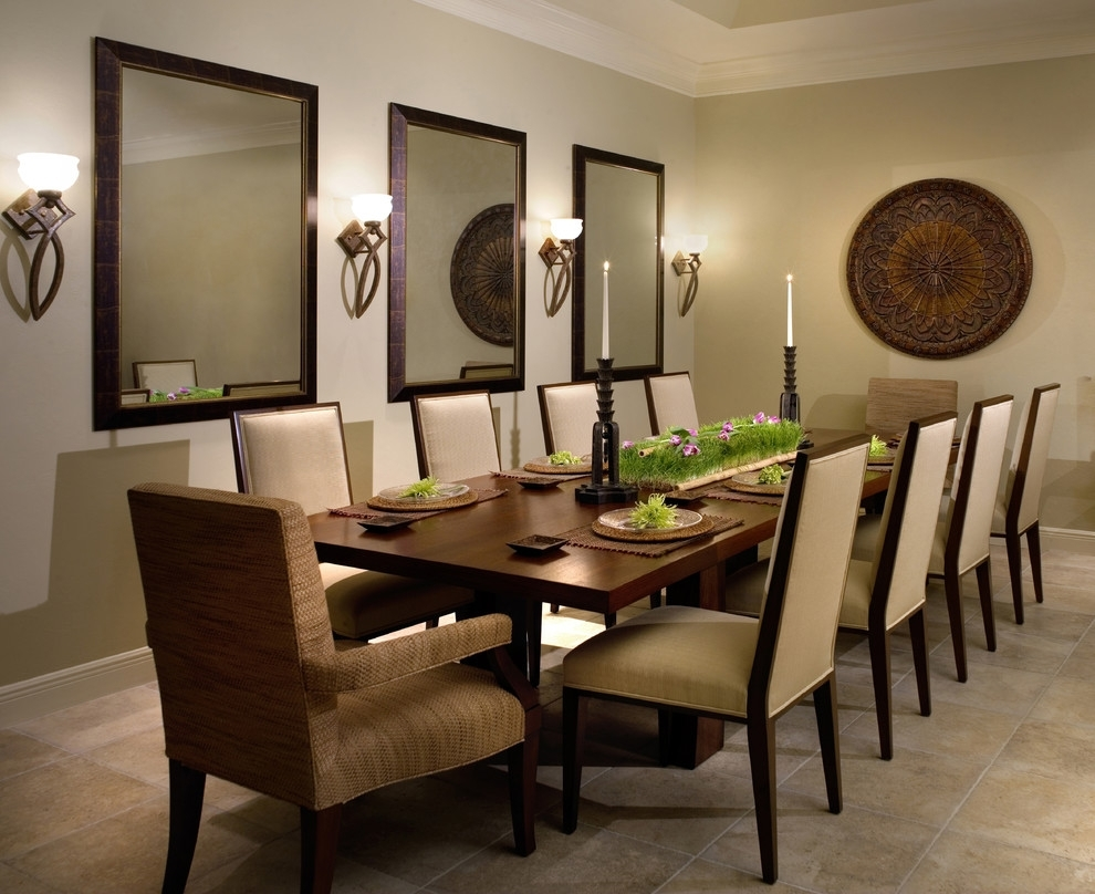 Wall Decor Ideas Dining Room Contemporary With Floor Tile Earth With Current Earth Tones Wall Accents (View 10 of 15)