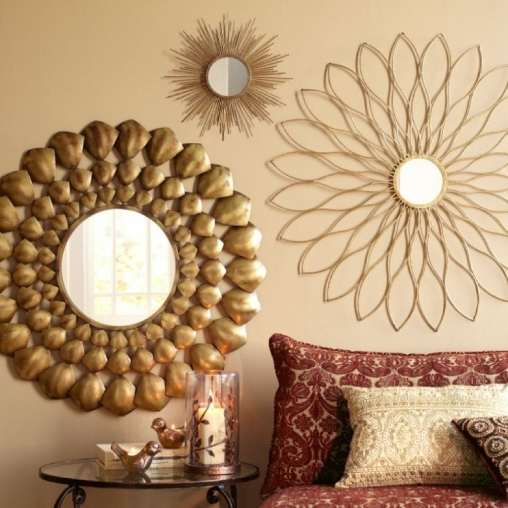 Wall Decor Mirror Home Accents Wall Decor Wall Art And Stylish Regarding Newest Gold Wall Accents (View 14 of 15)