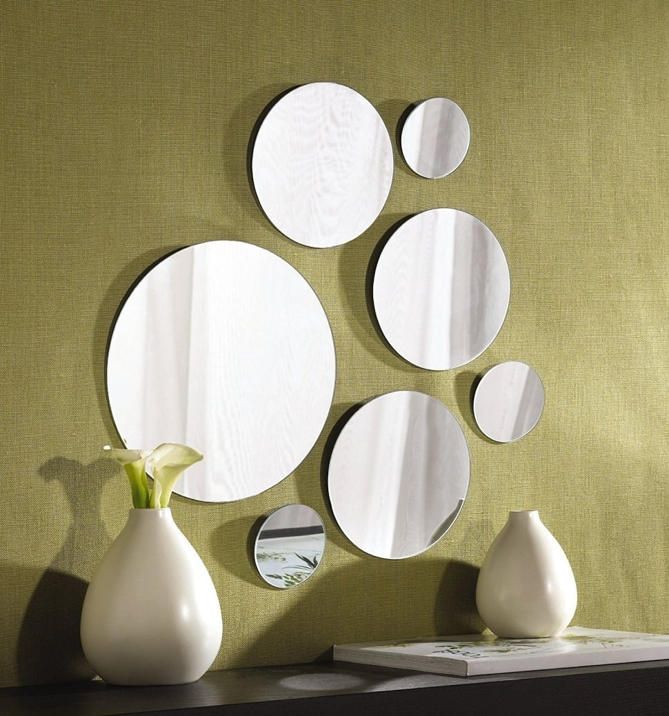 Wall Decor : Mirror Wall Art Over The Door Mirror Gold Wall Decor With Most Up To Date Mirror Sets Wall Accents (View 2 of 15)