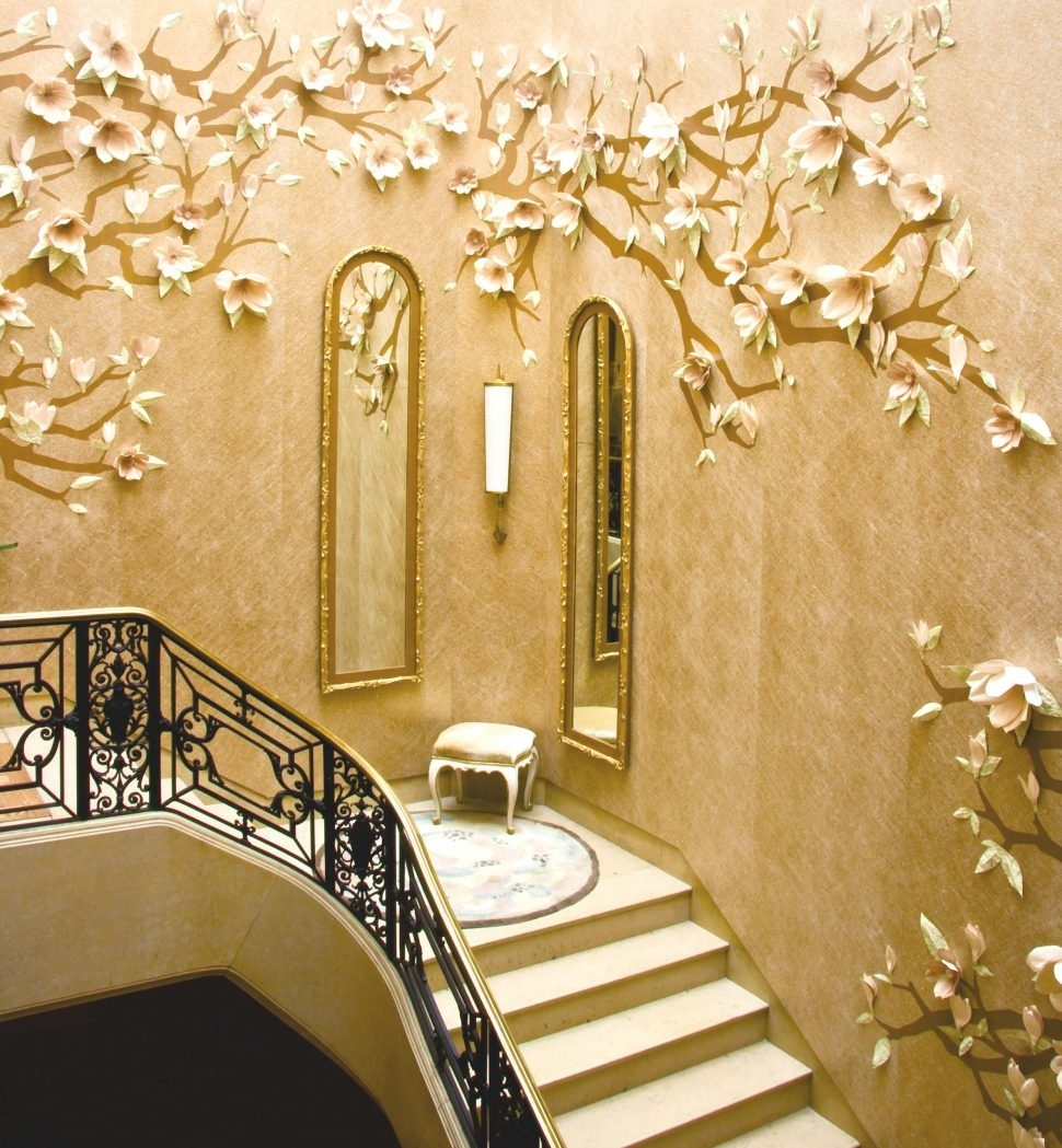 Wall Decor : Staircase Wall Design Wallpaper For Staircase Wall Pertaining To Newest Staircase Wall Accents (View 15 of 15)