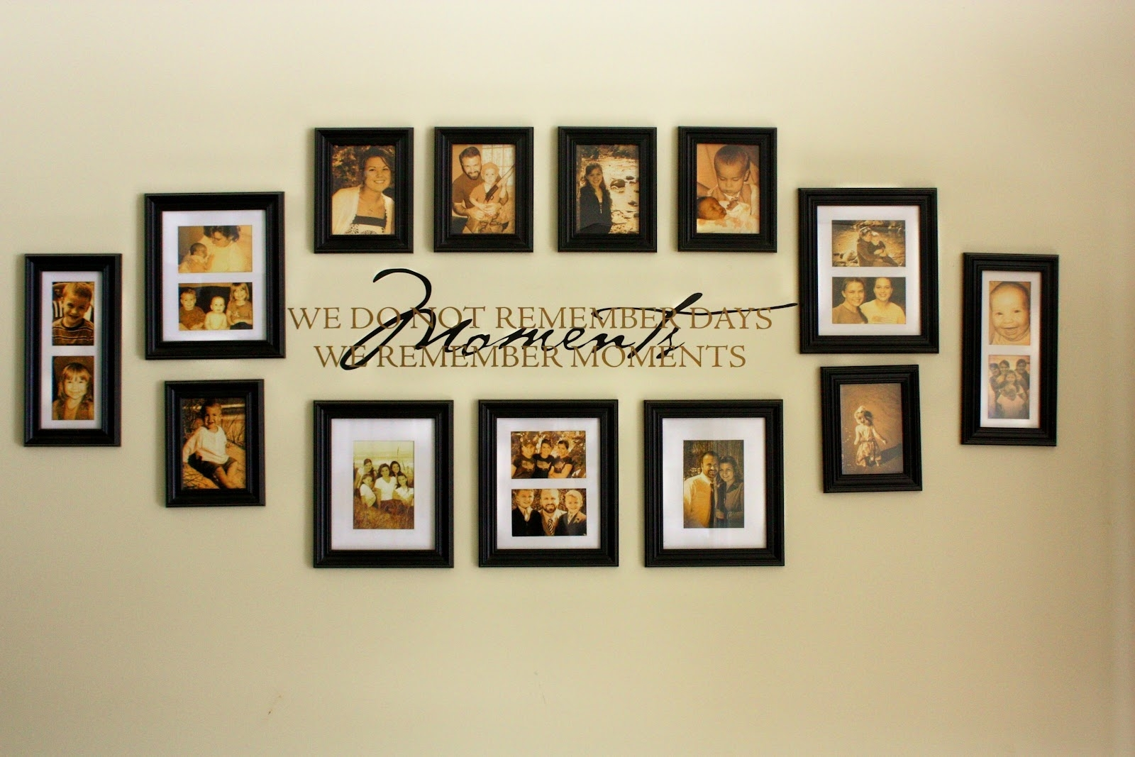 Wall Decorating Ideas With Picture Frames • Walls Ideas Pertaining To Most Popular Frames Wall Accents (View 1 of 15)
