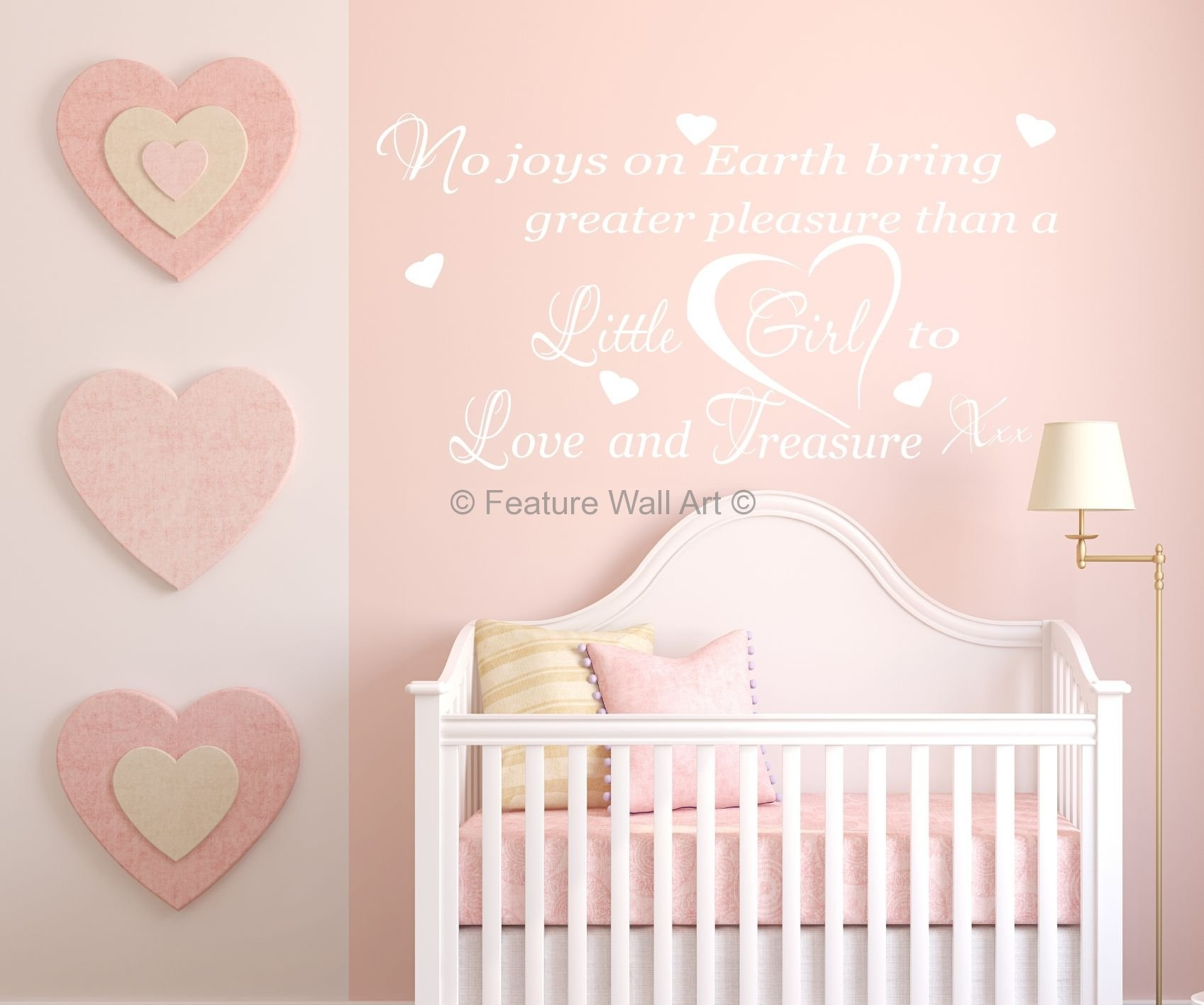 Wall Decorations For Baby Girl Room • Walls Decor Pertaining To Most Current Girl Nursery Wall Accents (View 13 of 15)